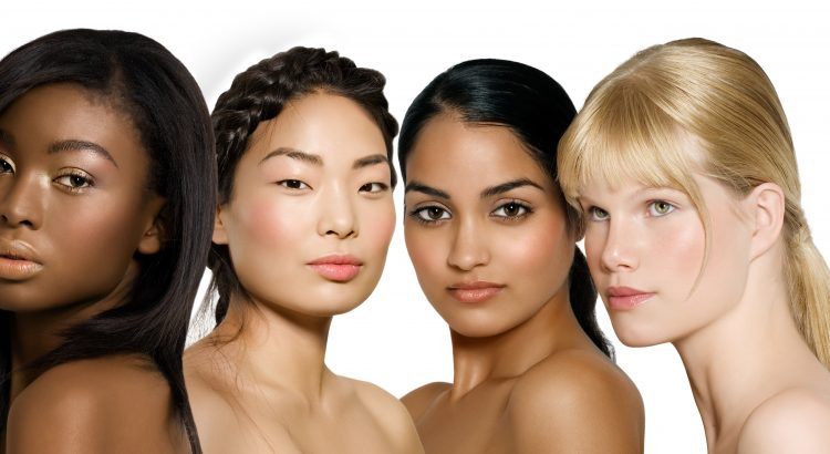 Women of different ethnicities with glowing skin