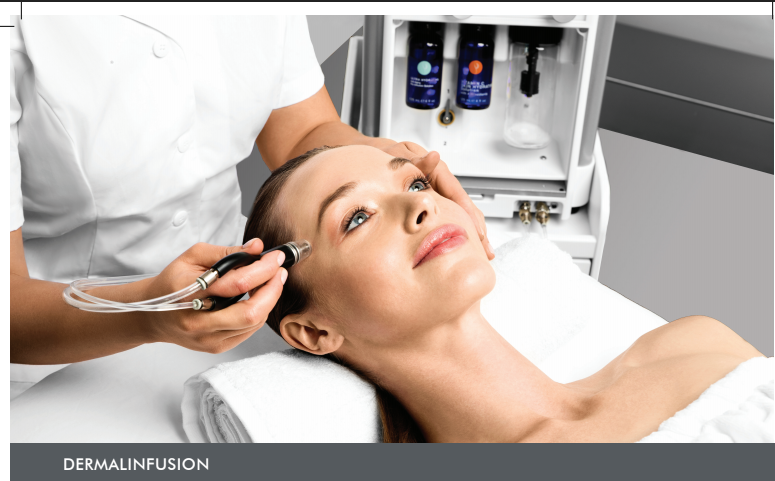 Picture of woman receiving dermal infusion treatment